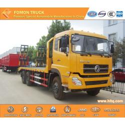 Dongfeng 6X4 22tons excavator platform transport truck