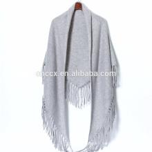 P18C05TR frange cachemire Poncho tricot couverture poncho