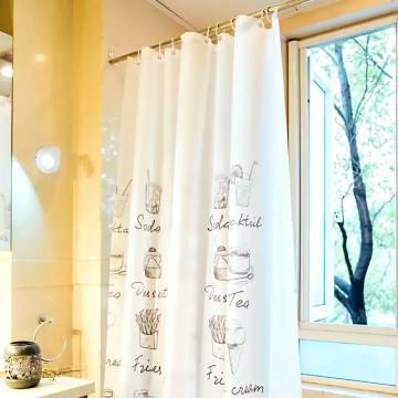 Shower Curtain PEVA Coffee Tasty