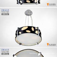 China modern lighting black hanging glass light