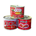 Organic Canned Tomato Sauce with Red Color, 28%~30% Brix Double Concentrated Processing