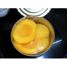 Fruta enlatada; Peach enlatado em Metade; Pêssego amarelo enlatado