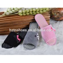Preço barato abrir dedo do pé interior chinelo TPR outsole mulheres sapatos chinelo quarto casa