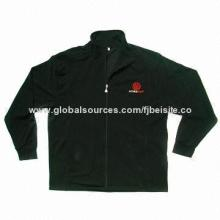 Men's Polar Fleece Jacket, Made of 100% Polyester Micro Polar Fleece 360g