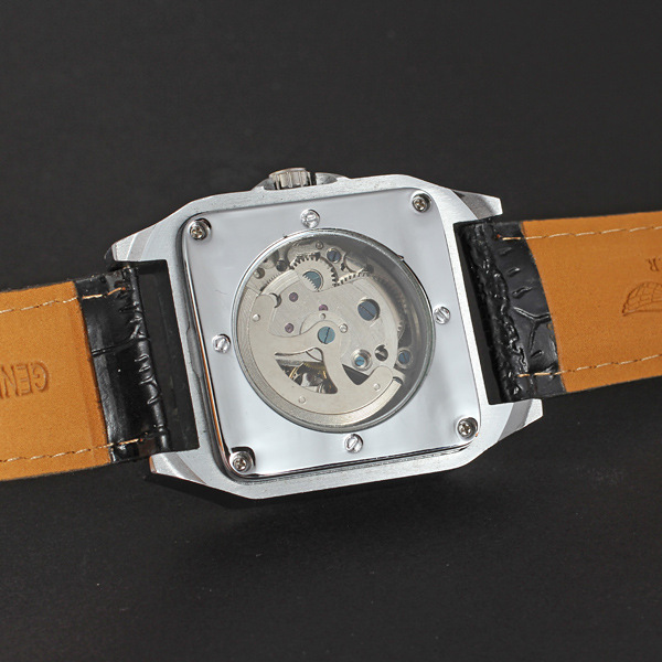 winner watch with leather band