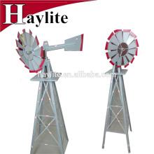 Molino de viento decorativo vertical mini jardín de metal