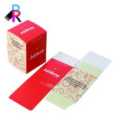 Embalaje bonito de la caja del cuidado de piel del papel de arte del proveedor de China