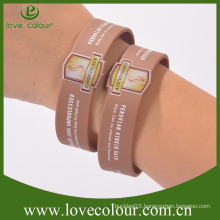 Custom cheap silicone rubber bracelet friendship