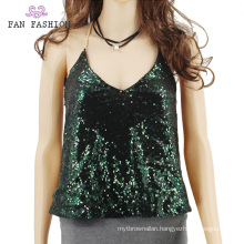 Full Sequin Tank Top Sequin Halter Top