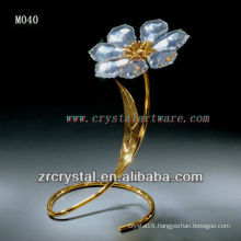 K9 Gold Plated Crystal Flower