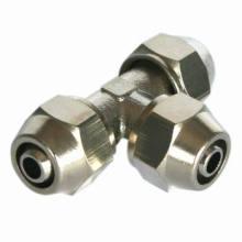Pneumática Fitting/One toque bronze encaixe (conector t)