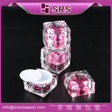 Hot sale quality acrylic square plastic container packaging for personal care