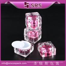 Embalagem plástica quadrada do recipiente da qualidade da venda quente do recipiente para o cuidado pessoal