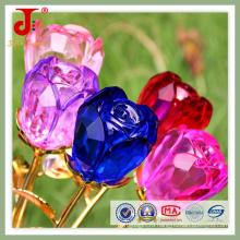 Кристалл стекло цветок Розы Свадебные украшения стола (СД-Ср-100)