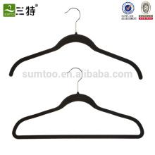 cintres de velours chauds de vente avec les cintres de velours pourpre de logo