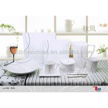 Productos de lujo elegantes de la consumición 2014 nuevos productos de cerámica china cena de la porcelana del turco