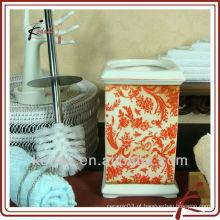 Cerâmica escova de WC com suporte