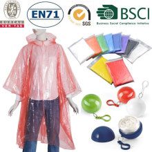 Promotional Disposable Rain poncho adullt size