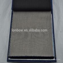 Angelico Super calidad 100% lana sharkskin suiting telas para hombres trajes