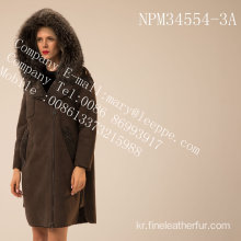 스페인 여자 Merino Shearling Coat in Winter