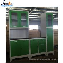 Европейская модель стиль кухонного шкафа с МДФ столешница и стальная раковина