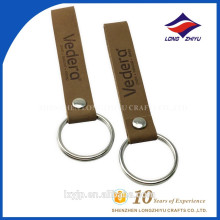 Fashion Simple Brown Leather Straps Key Ring