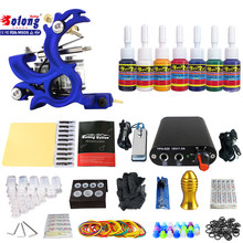 Solong TK105-18 Beginner Tattoo Kit with Tattoo Gun Power Supply Tattoo Kits With Needles