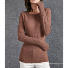 17PKCS510 2017 knit wool cashmere knitted lady sweater