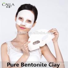 Limpeza de poros de pele profunda de remendo de folha de máscara de lama