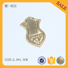 MC631 Personalized for bag accessory gold metal name tag