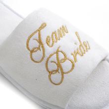 Custom wedding bride white velvet lady eva slippers