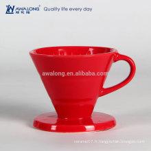 Pure Red Restaurant Coupe de drainage de haute qualité fine en porcelaine