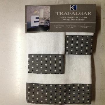 100% Baumwolle Hotel dekorative Handtuch Set