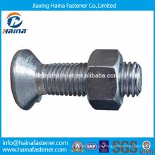 Em estoque Fornecedor chinês melhor preço din604 aço carbono / aço inoxidável Hexagon caber parafusos com ponto de cão rosqueado longo