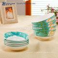 light green chinese dinner set bone china dinnerware reusable household