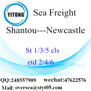 Port de Shantou LCL Consolidation à Newcastle