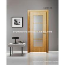 High Quality Afforable Price Veneered Glazed Interior Door