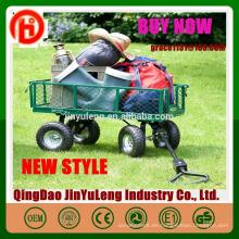 Garden Mesh Cart Heavy Duty Steel Metal Yard Farm Firewood Beach Paisajismo Garden Wagon Cart