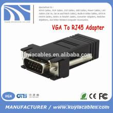Fábrica Vender macho VGA a RJ45 hembra conector adaptador