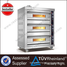 Full Series Luxury Hotel Equipment Stainless Steel Body Gas Deck Oven