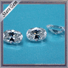 Chine Fournisseur Ovale Cut Syntheitc Moissanite Diamond