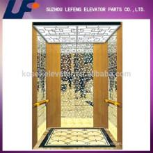 Titanium, Stainless Steel Mirror Residential Elevator Cabin