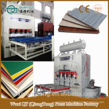 Máquina de prensagem a quente para HDF / MDF, placa de móveis, piso laminado máquina de prensagem a quente