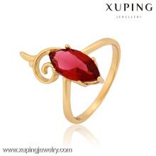 12883-Xuping excelente cúbico piedras de circón anillo mujeres chica joyería para el partido