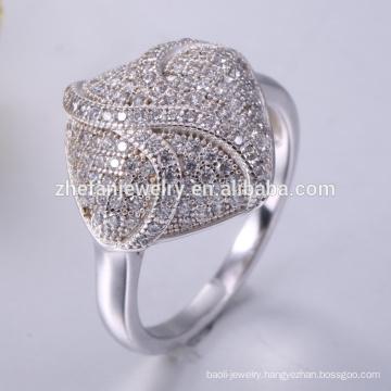 Beautiful pave women fancy 925 sterling silver ring