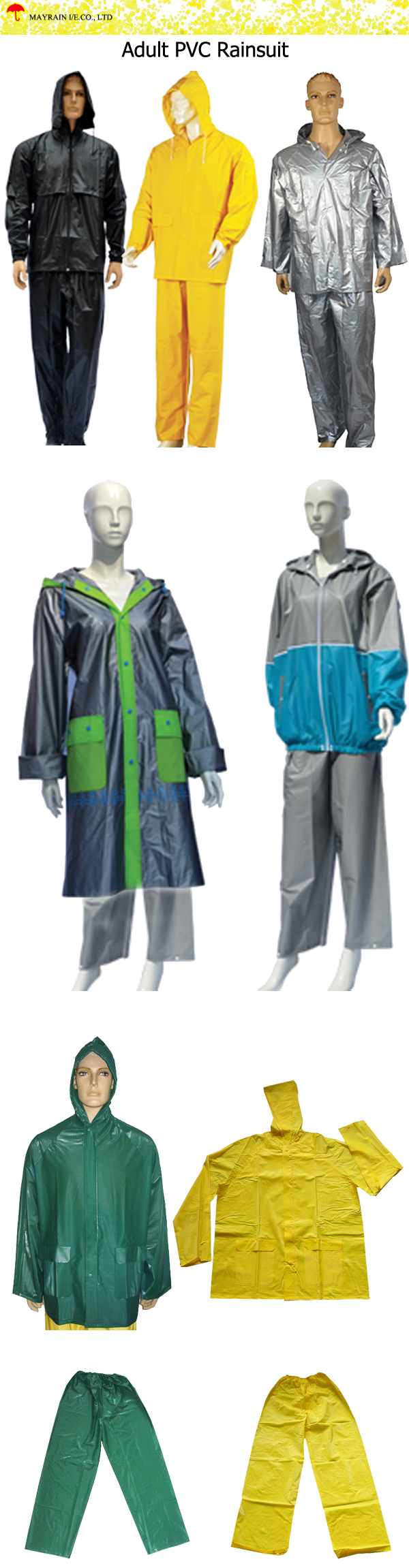 Adult PVC Rainsuit