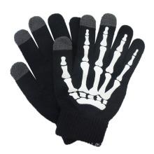 Art und Weise druckte Acryl gestrickter Touch Screen Winter-magische Handschuhe (YKY5439-2)
