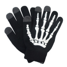 Fashion Printed Acrylic Knitted Touch Screen Winter Magic Gloves (YKY5439-2)