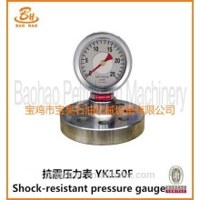 Supply YK-150F Shock Resistant Pressure Gauge For Drilling Pump Parts