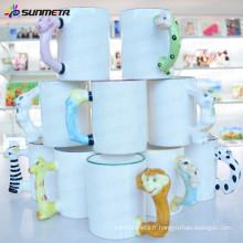 L'usine Sunmeta fournit une tasse de sublimation de 11 oz en blanc avec une poignée d'animal